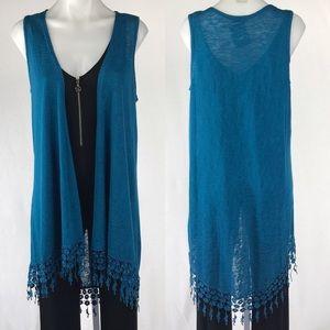 B-Envied Lace Trim knit Vest